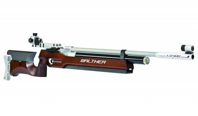 Walther Lg400 Match Air Rifle With Wooden Stock For Bench